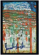 Friedensreich Hundertwasser Autograph