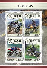 Djibouti 2016 MNH Motorcycles Motos Suzuki BMW Yamaha MV Augusta 4v M/S Stamps