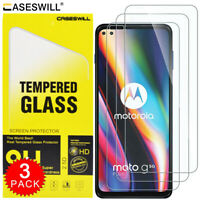 For Motorola Moto G 5G Plus Caseswill HD-Clear Tempered Glass Screen Protector