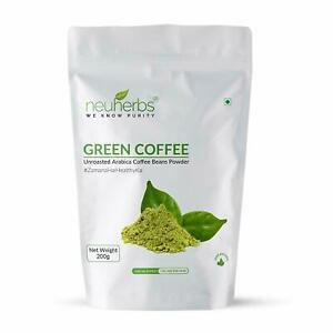 Neuherbs Organic Green Coffee Beans Powder for Weight Management 200g US