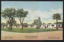 Postcard CLEARWATER Florida/FL  Sun/New Ranch Tourist Motel Motor Court 1930's