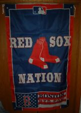 "+ New + Boston Red Sox Red Sox Nation 3' x 5' Flag and Banner 36"" x 60"" Large"