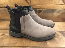 Calvin Klein Men's Avis Grey Suede-Calf Smooth Chelsea Boots Size 7.5 M EUR 39.5