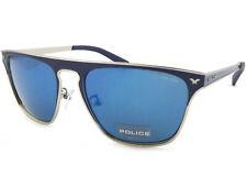 4b8eb56ad4 POLICE - History 2 sunglasses Matte Blue Silver  Blue Mirror Lenses S8978  502B