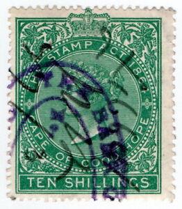 (I.B) Cape of Good Hope Revenue : Stamp Duty 10/- (1896)