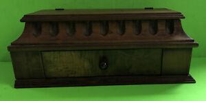 GORGEOUS WALNUT(?) WOODEN ANTIQUE DRESSER BOX