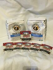 Two 2 LB King Arthur Organic Flour + Six Hodgson Mill Active Dry Yeast Packets