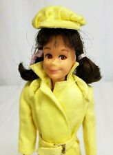 Vintage 1965 BRUNETTE SKOOTER Barbie Doll #1040 wearing RAIN OR SHINE #1916