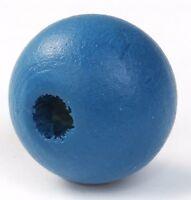 200 Stück Zypresse Holzperlen Rund Malachitblau 10 mm Perlen Holz Loch Basteln
