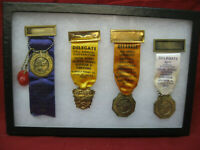 Vintage Lot of 4 Firemans Annual Convention Medal Rare Fire Department Pa.