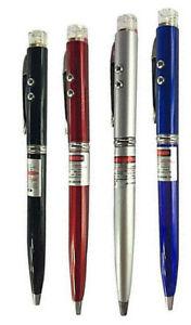 Laser Ballpoint Pen Pointer LED Torch Light Lazer  3 in 1 Training Tool Work Toy