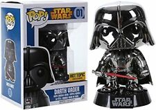 POP FUNKO ! Exclusive Star Wars Darth Vader Chrome Metallic - Vinyl Figure # 01