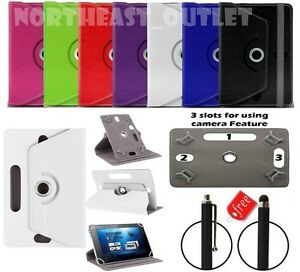 """360° Rotating Case Cover For 7"""" Inch Amazon Kindle Fire Tablet with Free Stylus"""