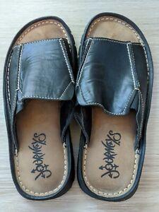 Men's Journey Leather Sandal Slide Brown Size 9
