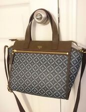 NEW Fossil Tessa Satchel Purse HandBag Blue  Pattern Multi SHB1471403 NWT $168