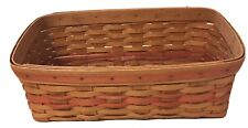 """Longaberger 1996 Mothers Day Vanity Basket with plastic liner   14.5"""" x 7.75"""""""