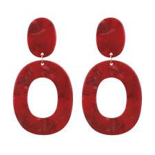 Fashion Women Bohemian Acrylic Resin Geometric Statement Drop Earrings Jewelry