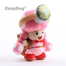 "Captain Toad Toadette Plush Teddy Super Mario Treasure Tracker Soft Toy Doll 8"""