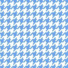 Mini Giraffes Houndstooth Blue for Michael Miller, 1/2 yard 100% cotton fabric