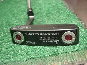Left Hand LH Very Nice Titleist Scotty Cameron Black Select Newport 2 Putter 34