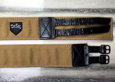 vintage DIESEL cintura unisex cotone & leather color senape & marrone made Italy