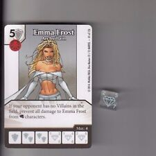 DICE MASTERS UNCANNY X-MEN COMMON #41 EMMA FROST ARCHVILLAIN CARD WITH DICE