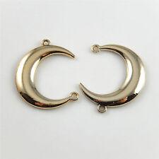 20pcs/lot Rose Gold Alloy Pendants Moon Crescent Charms Jewelry Making 27x22x2mm