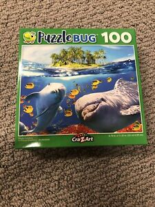 🧩 NEW Puzzle- 100 Piece Dolphin Sealed Cra-Z-Art Puzzle bug Fish Ocean Sea