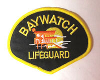 """Baywatch Lifeguard Black Shoulder Logo 4""""Embroidered Patch- FREE S&H  (BWPA-002)"""