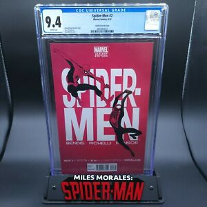 Spider-Men #2 CGC 9.4 Martin 1:30 Variant Cover Miles Morales & Peter Parker!
