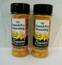 Supreme Tradition French Fry  Seasoning  New ! 2 X 5 oz