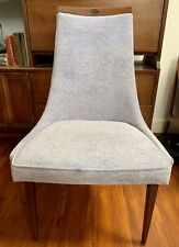 Iconic Mid Century Pearsall Style High Back Blue Velvet Lounge Chair Atomic MCM
