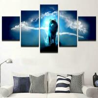 Lightning Wolf Canvas Art Print for Wall Decor Painting