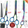 "Professional 5.5"" Hairdressing-Scissors SET Barber Salon Shears-KIT + TRIM-RAZOR"