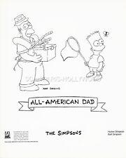 THE SIMPSONS BART HOMER SIMPSON ALL AMERICAN DAD 1990 VINTAGE PHOTO ORIGINAL