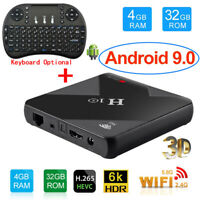 Lot H10 TV BOX Android9.0 LCD 4+32G Dual WIFI 6K Quad Core Media Player+Keyboard