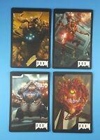 Doom 4 Gamestop Exclusive Set of 4 Limited Edition Promo Collectors Cards