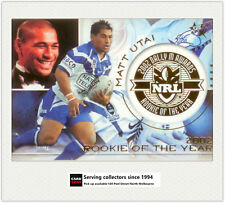 2003 Select NRL XL Dally M Subset DM3: Matt Utai ( Rookie Of The Year )