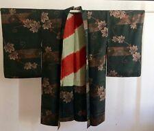 Kimono Japan,Haori, Seide, Omeshi,Ikat, Meisen,Vintage,Morgenmantel,Geisha