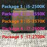 Intel Core i5-2500K i5-2550K i5-3570K i7-2600K i7-2700K LGA 1155 CPU Processor