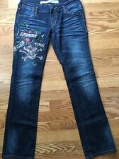 Ed Hardy Jeans Women's Size 28 Straight 32 Inseam