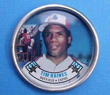 1988 Topps ML Baseball Metal Coin # 49 Tim Raines Montreal Expos