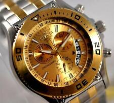 New Mens Invicta 6857 SWISS Quartz Chronograph Two-Tone Stainless Steel Watch