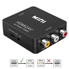 Composite HDMI to AV CVBS 3RCA Video Converter Adapter 720/1080p + USB Cable