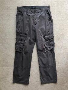 Mens Next Grey Cargo Trousers W32/L29