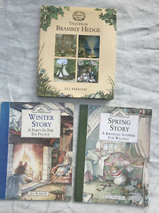3x Brambly Hedge Books Tales From Winter Spring Story  Jill Barklem