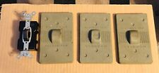 1751  HUBBELL PUSH SWITCH WITH 3 RUBBER COVERS NEW OLD STOCK