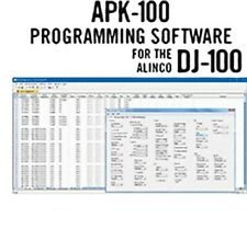 Rt Systems Apk-100-U Programming Software Only for the Alinco Dj-100