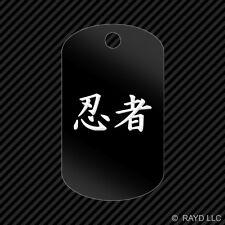 Ninja Keychain GI dog tag engraved many colors  Kanji