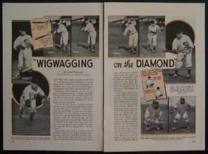 Chicago White Sox 1937 Lew Fonseca Baseball Signals Signs pictorial